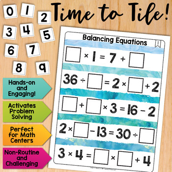 Math Tiles: Balancing Equations  Math Centers