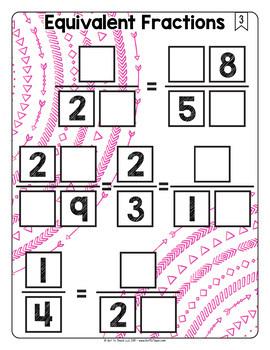 Math Tiles: Equivalent Fractions  Math Centers