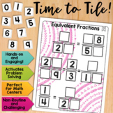 Math Tiles: Equivalent Fractions  Math Centers