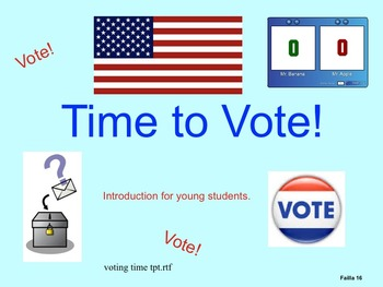 Time to Vote! - Introduction for young students