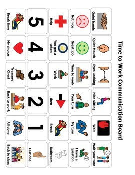 Time to Work Communication Board/ AAC