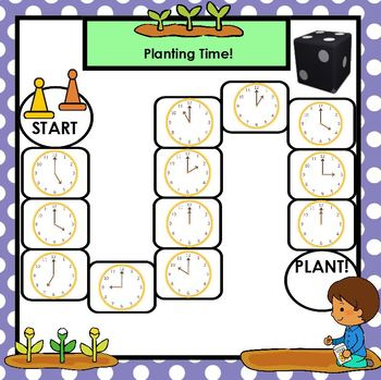 Time to Work in the Garden:  SMARTBOARD Garden Themed Time to the Hour Games