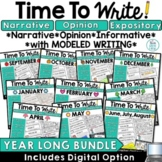 Monthly Writing Prompts Activities Narrative Opinion Expository   Summer Writing