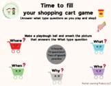 Time to fill your shopping cart game- a fun speech and lan