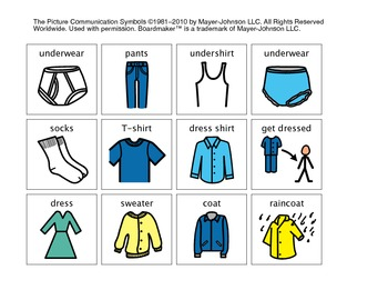 Time to get Dressed Visual Schedule