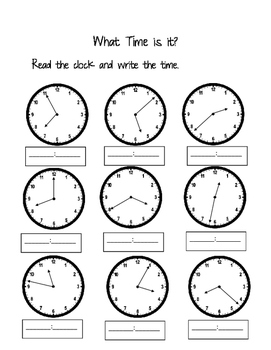 Time to minute and five minute