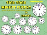 Time to the Exact Minute-Clock Clipart Collection