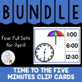 Time to the Five Minutes Clip Cards April Bundle