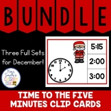 Time to the Five Minutes Clip Cards December Bundle