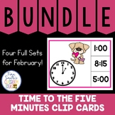 Time to the Five Minutes Clip Cards February Bundle