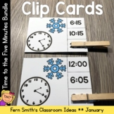 Time to the Five Minutes Clip Cards January Bundle