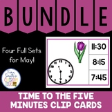 Time to the Five Minutes Clip Cards May Bundle