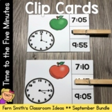 Time to the Five Minutes Clip Cards September Bundle