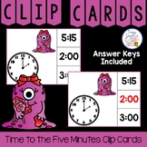 Time to the Five Minutes Clip Cards Valentine's Monster Th