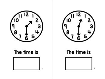 Time to the Half Hour Adapted Book - Analog Clock - Special Education