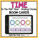 Time to the Half Hour Analog Boom Cards Drag and Drop