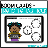Time to the Half Hour BOOM CARDS   Distance Learning