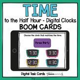 Time to the Half Hour Digital Clocks BOOM Cards™