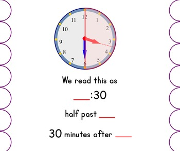 Time to the Half Hour Interactive Lesson