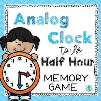 Time to the Half Hour Memory Game