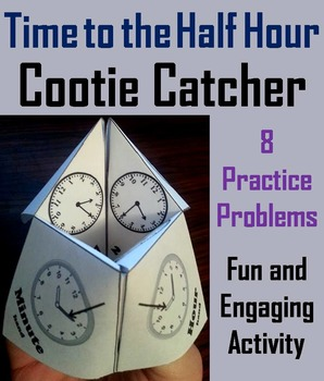 Telling Time to the Half Hour Activity/ Telling Time to the Half Hour Game