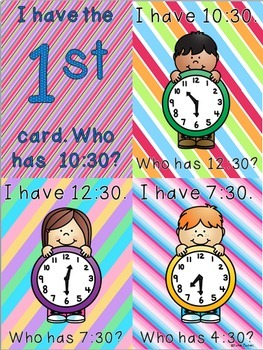 NEW Time to the Half Hour- Primary Grades!