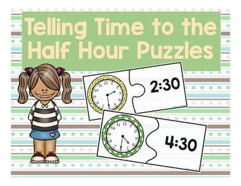 Time to the Half Hour Puzzles