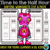 Time to the Half Hour Worksheets | Cut and Paste
