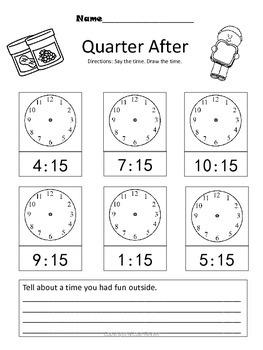 Time to the Hour, Half Hour and Quarter Hour