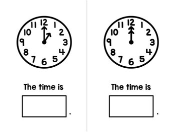Time to the Hour Adapted Book - Analog Clock - Special Education