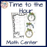 Time to the Hour Apple themed Math Center