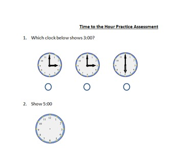 Time to the Hour Assessment