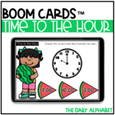 Time to the Hour BOOM CARDS   Distance Learning