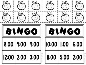 Time to the Hour Bingo Powerpoint Game Kit