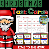 Christmas Task Cards Time to the Hour