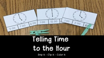 Time to the Hour: Clip It Activity  #celebrate2018