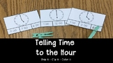 Time to the Hour: Clip It Activity