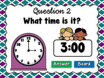 Time to the Hour - Find the Star - Powerpoint Game