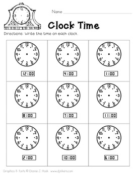 Time to the Hour {Freebie!}