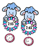 Time to the Hour, Half Hour, 15 and 45 After - Sheep