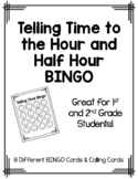 Time to the Hour & Half Hour BINGO
