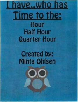 Time to the Hour, Half Hour, Quarter Hour Game