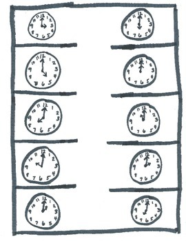 Time to the Hour Interactive Notebook Freebie