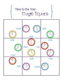 Time to the Hour Magic Square