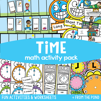 Time to the Hour {Math Activities Pack #16} Math Centers