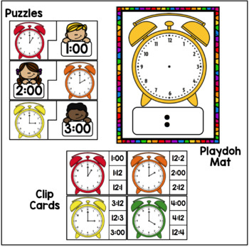 Time to the Hour Math Stations