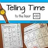 Telling Time to the Hour NO PREP Printables