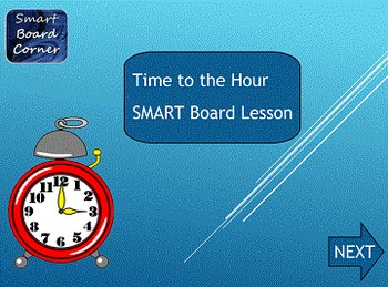 Time to the Hour SMART Board lesson