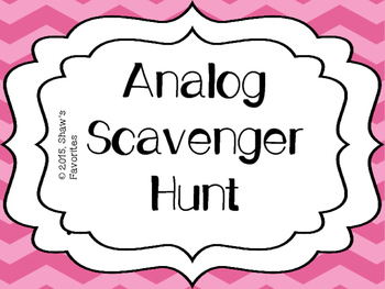 Telling Time to the Hour Scavenger Hunts
