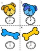 Time to the Hour Task Card Activities Dog Theme Common Core